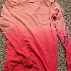 Ombré pink vineyard vine long sleeve t-shirt